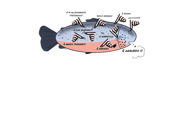 la freschezza del salmone è con un dito